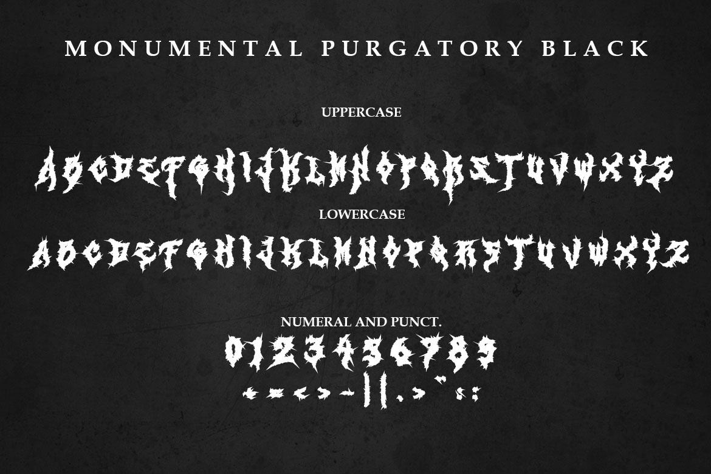 Monumental Purgatory - 3 Awesome Deathmetal Fonts example image 10