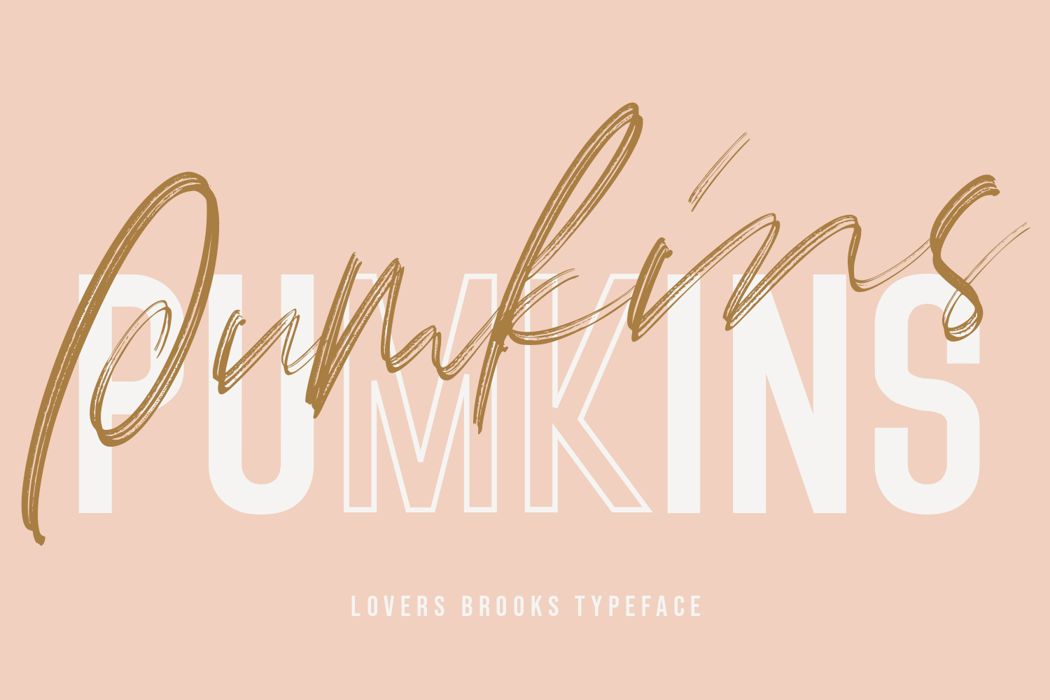 Lovers Brooks SVG Brush Font Sans example image 6