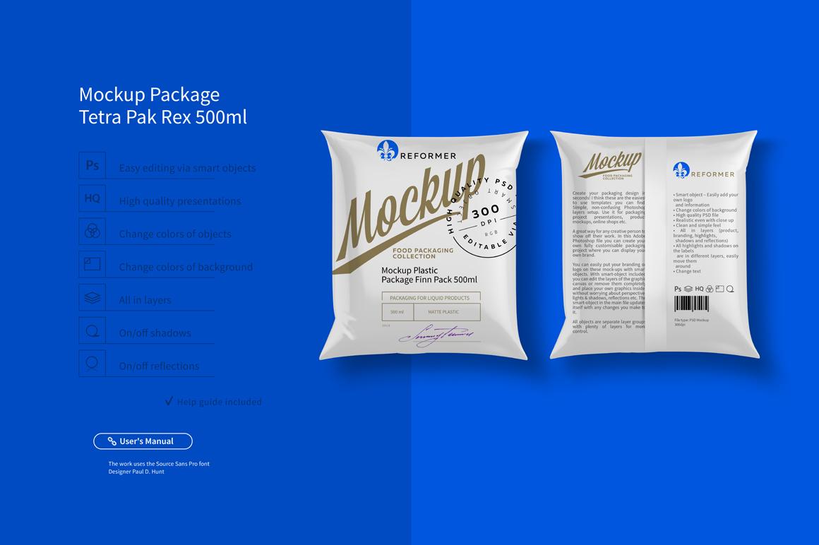 Mockup Package Finn Pack 500ml example image 1