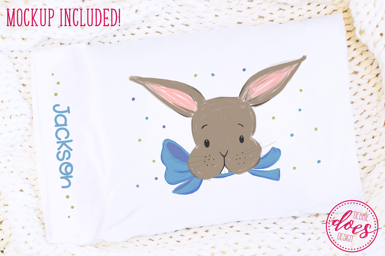 Easter Bunny Pillowcase Design & Mockup Bundle! example image 6