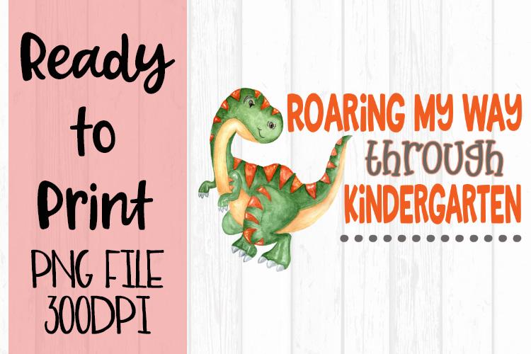 Roaring my Way Through Kindergarten Ready to Print example image 1