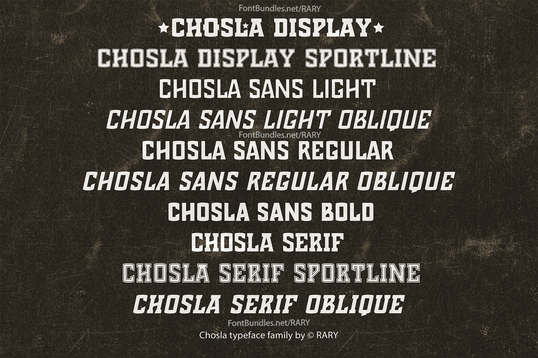 Chosla | Sports font family bundle. example image 10