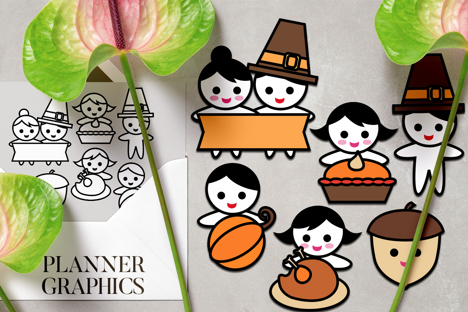 Holidays Bundle - Planner Graphic Illustrations example image 2