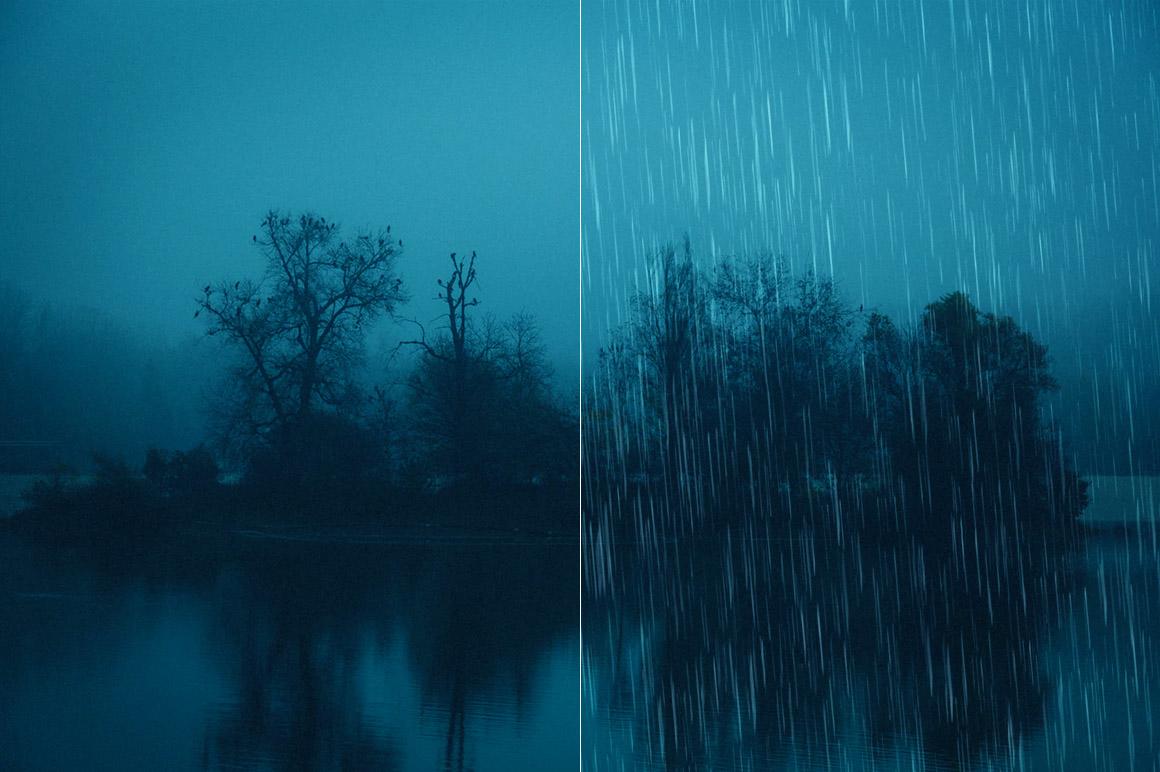50 Rain Photoshop Brushes example image 4