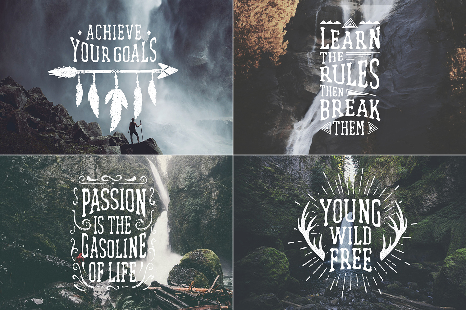 Waterfall. Handcrafted Font (+bonus) example image 2
