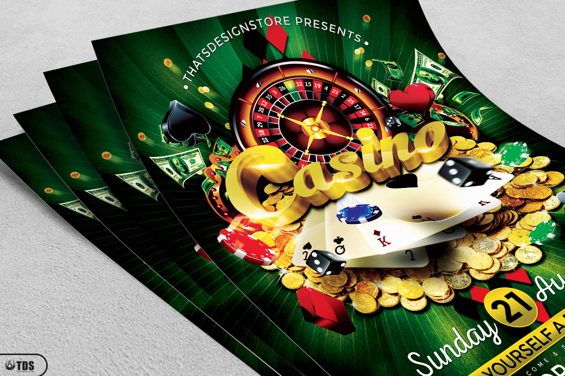 Casino Flyer Template V1 example image 3