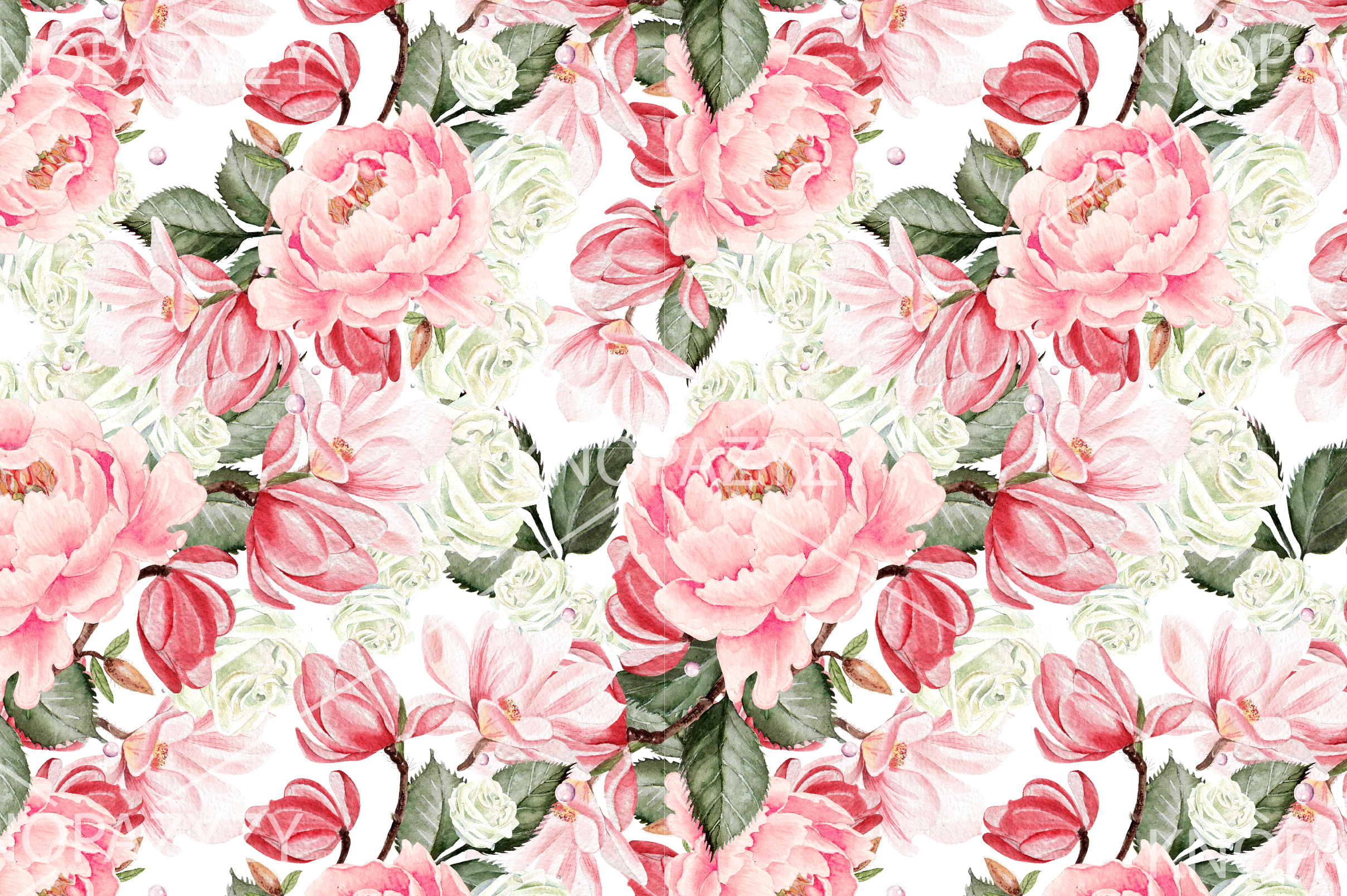 10 Hand Drawn Watercolor Pattern example image 5