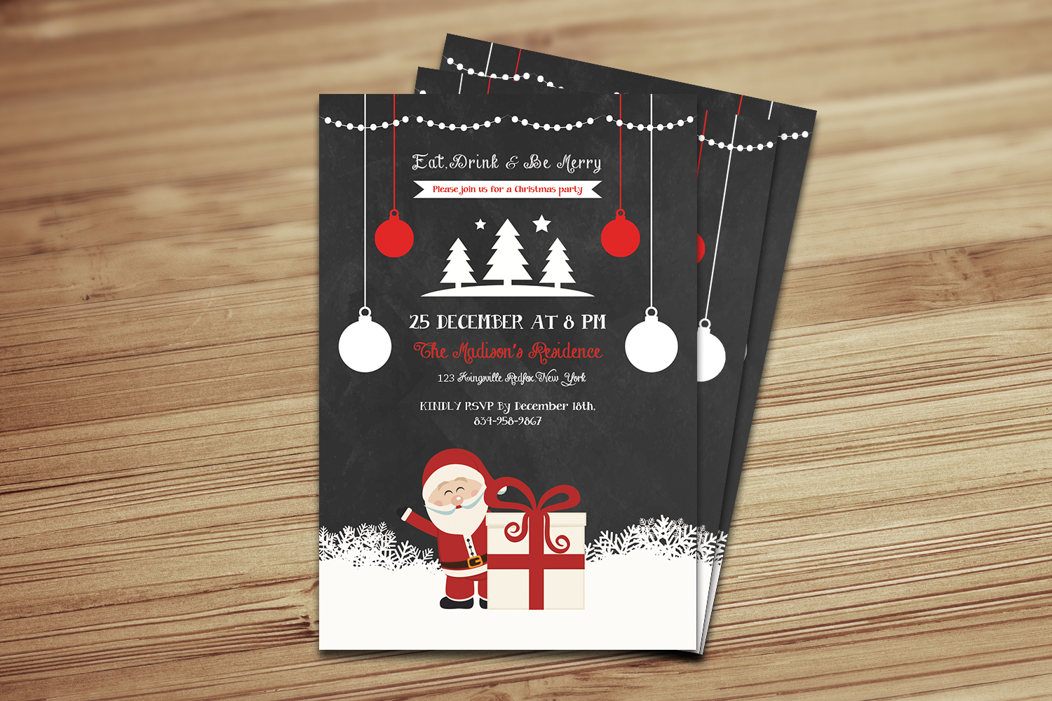 Christmas Holiday Party Flyer example image 3