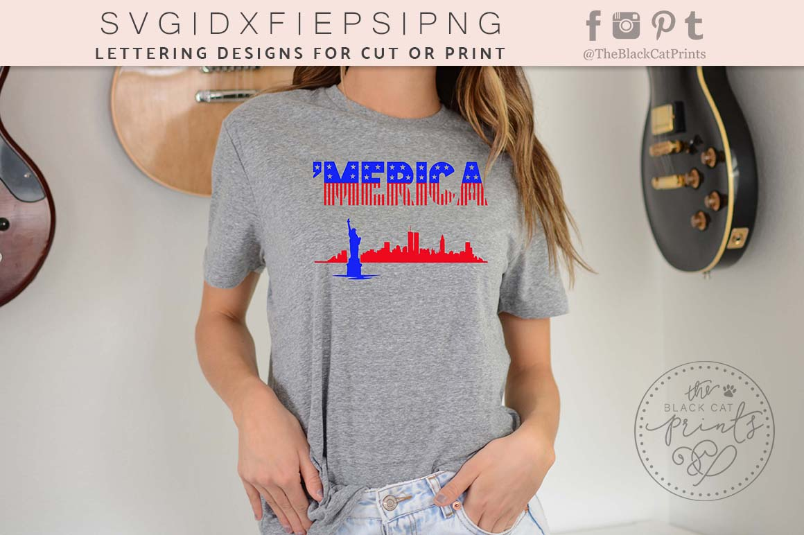 'Merica SVG PNG EPS DXF example image 5