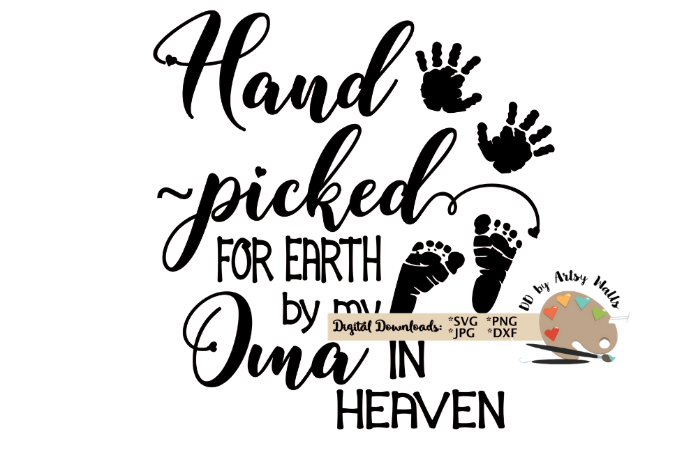 Hand Picked for Earth SVG In Memory of Oma svg file baby example image 2