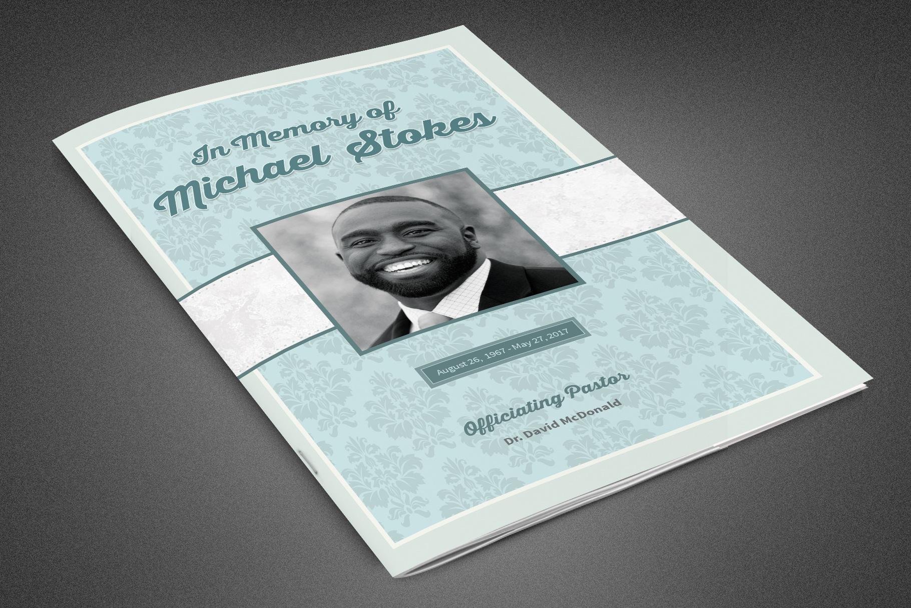 Comfort Funeral Program Template example image 1