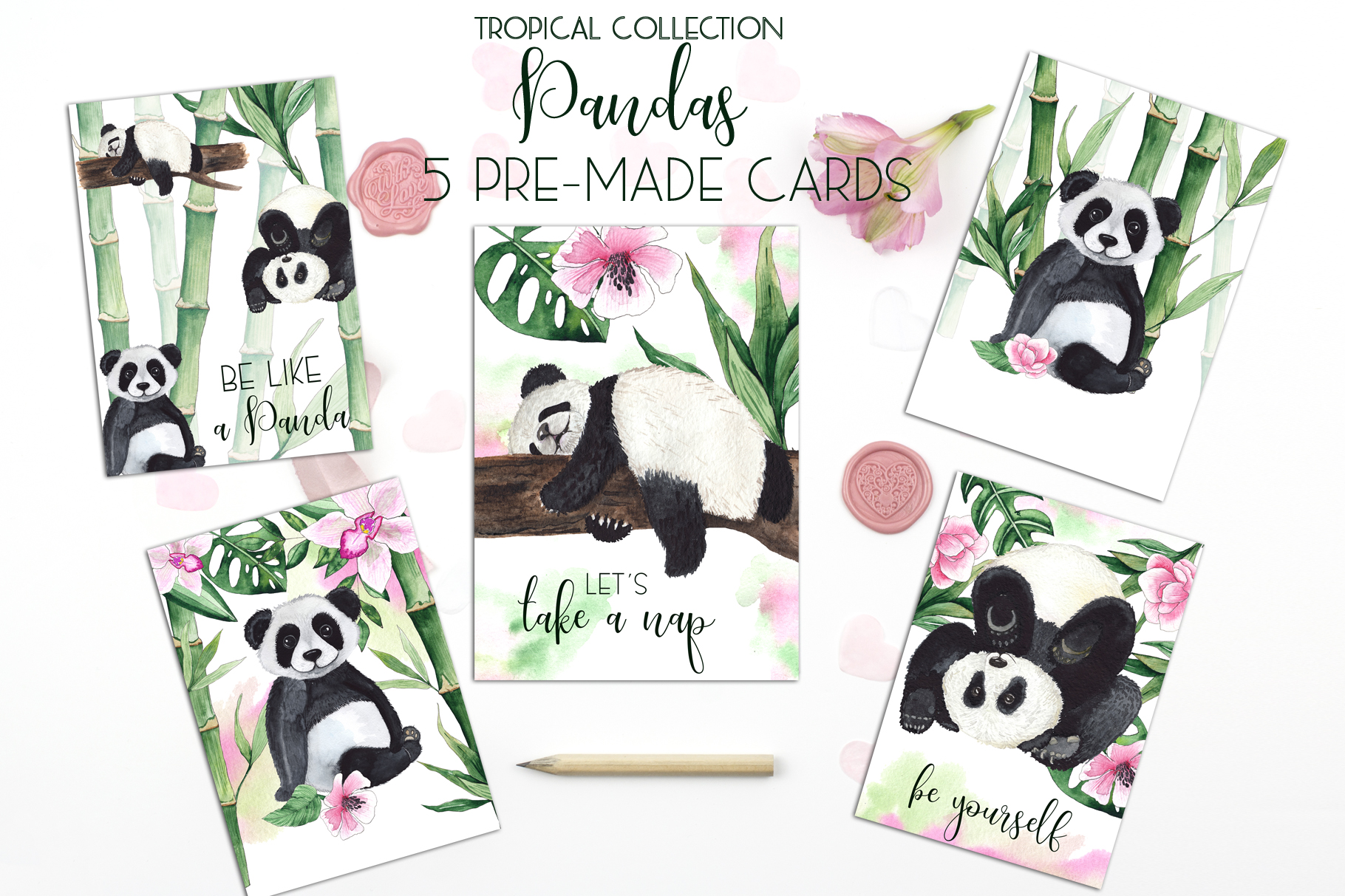 Pandas. Tropical collection example image 2