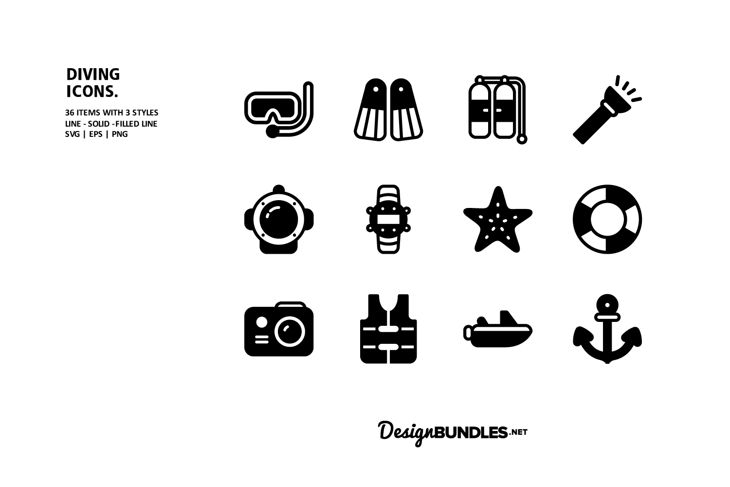 Diving Icons example image 2