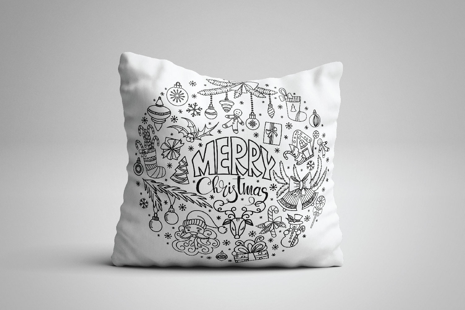 Christmas Doodles SVG example image 3