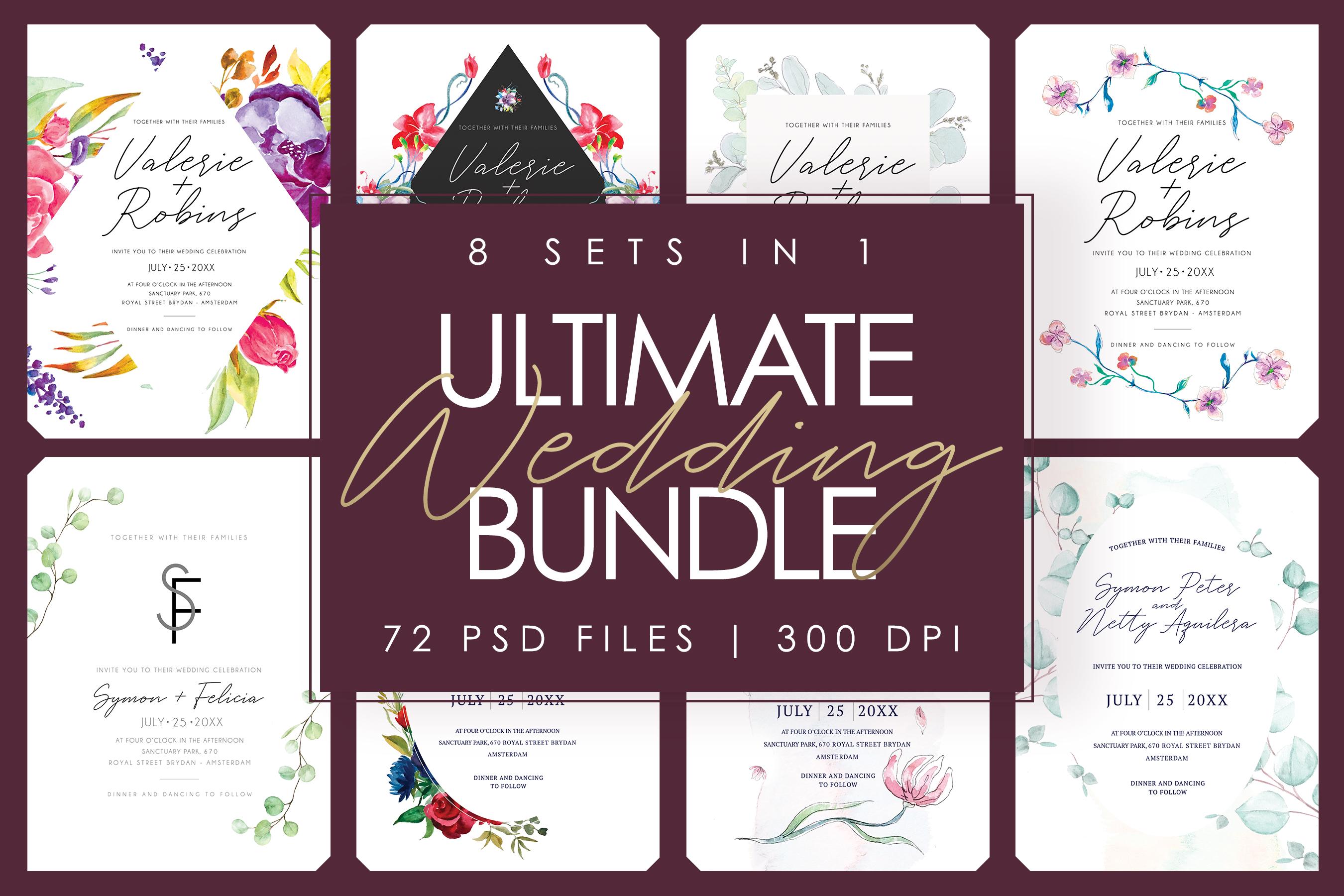 8 SET IN 1   Ultimate Wedding Bundle example image 1