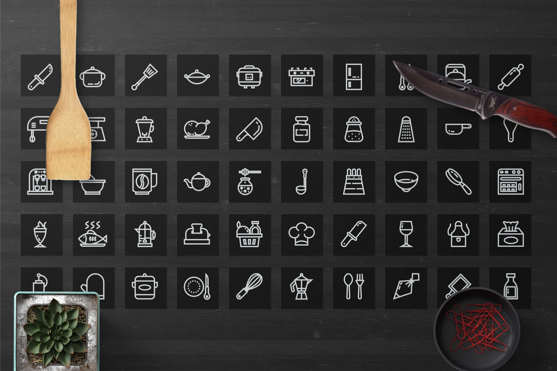 200 Kitchen Icon Pack example image 2