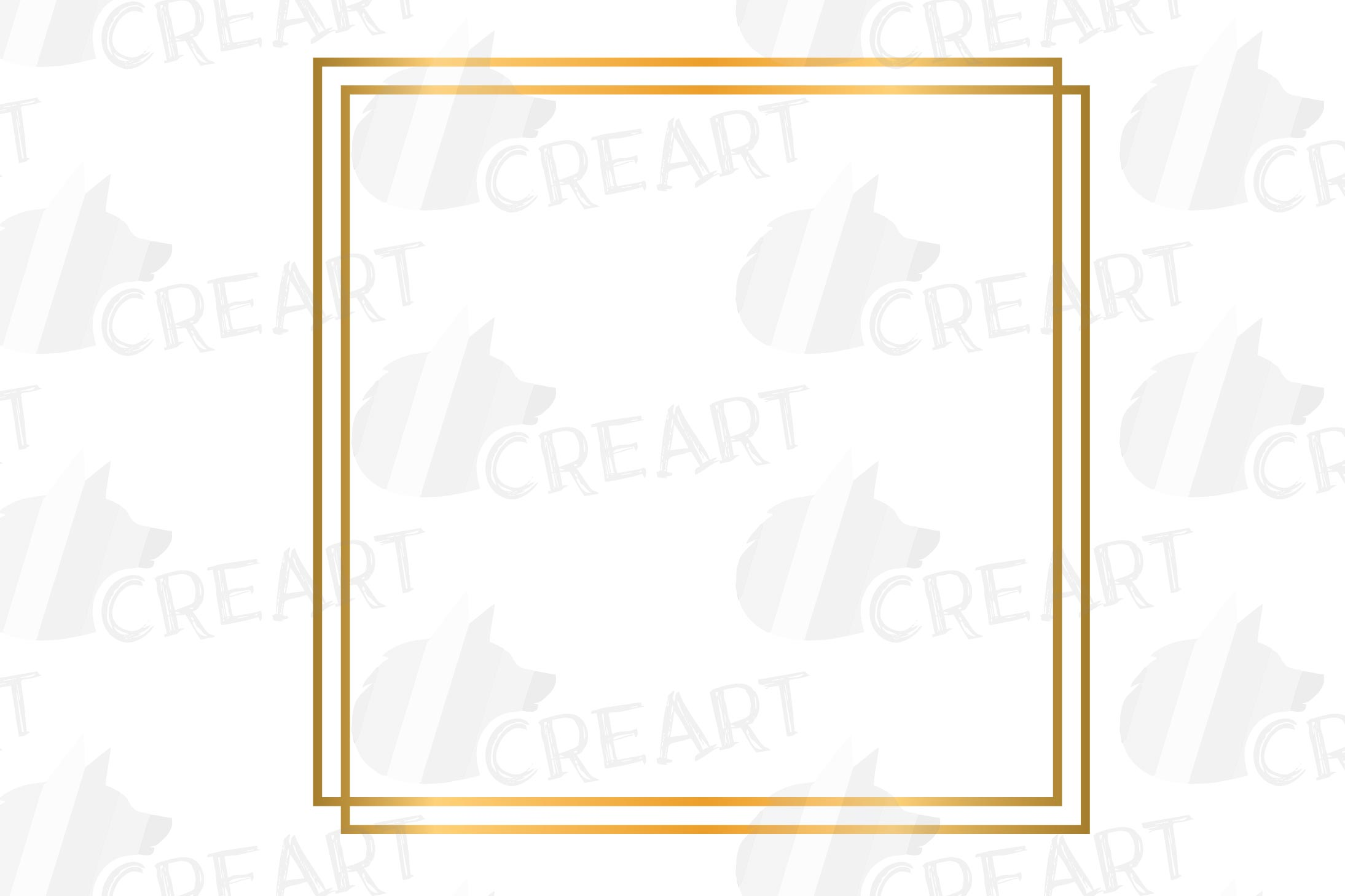 Golden geometric frames clip art. Wedding invite geo borders example image 7