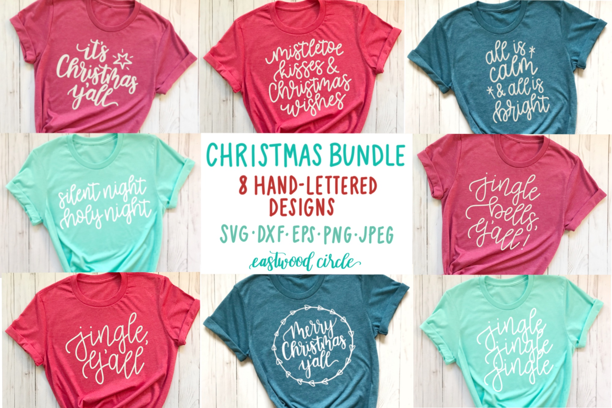 Christmas SVG Bundle - Hand Lettered SVG Files for Crafters example image 1