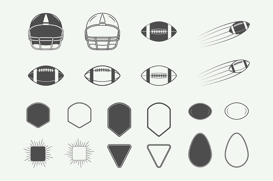 Football and Rugby Emblems Bundle example image 12