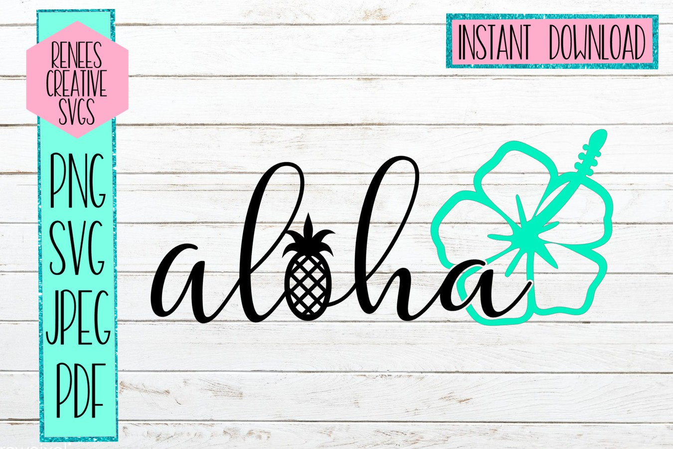 Aloha | Summer | SVG File example image 1