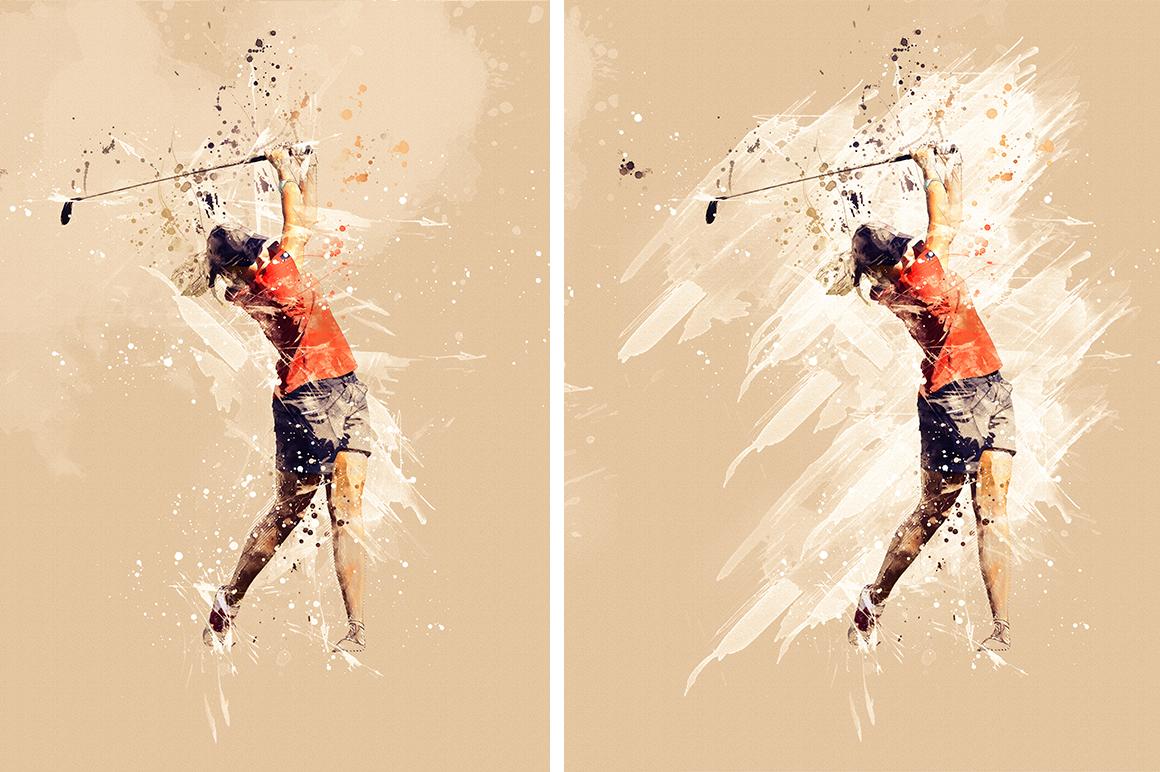 Sports Modern Art Photoshop Action example image 15
