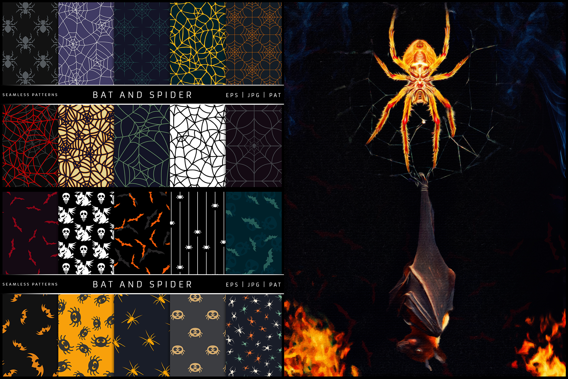 100 Seamless Patterns Vol.3 Halloween example image 9
