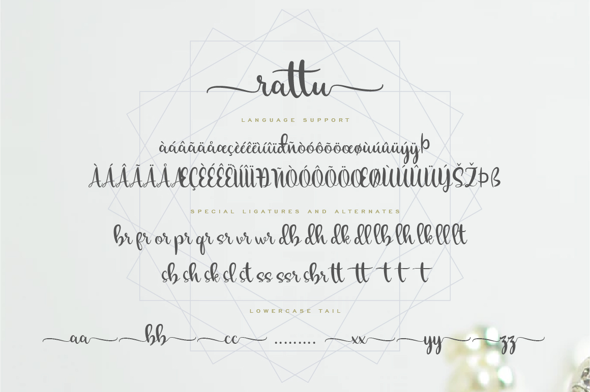 rattu handletter font example image 7
