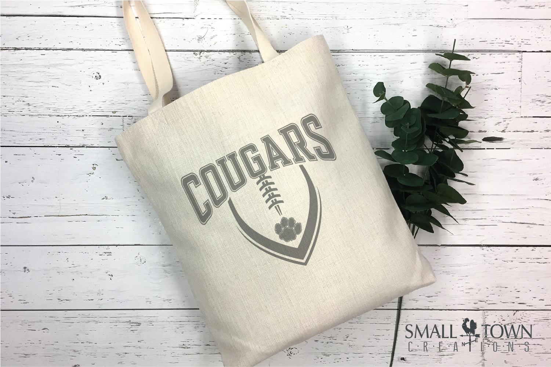 Cougar Football, Paw Print, Team, PRINT, CUT & DESIGN example image 4