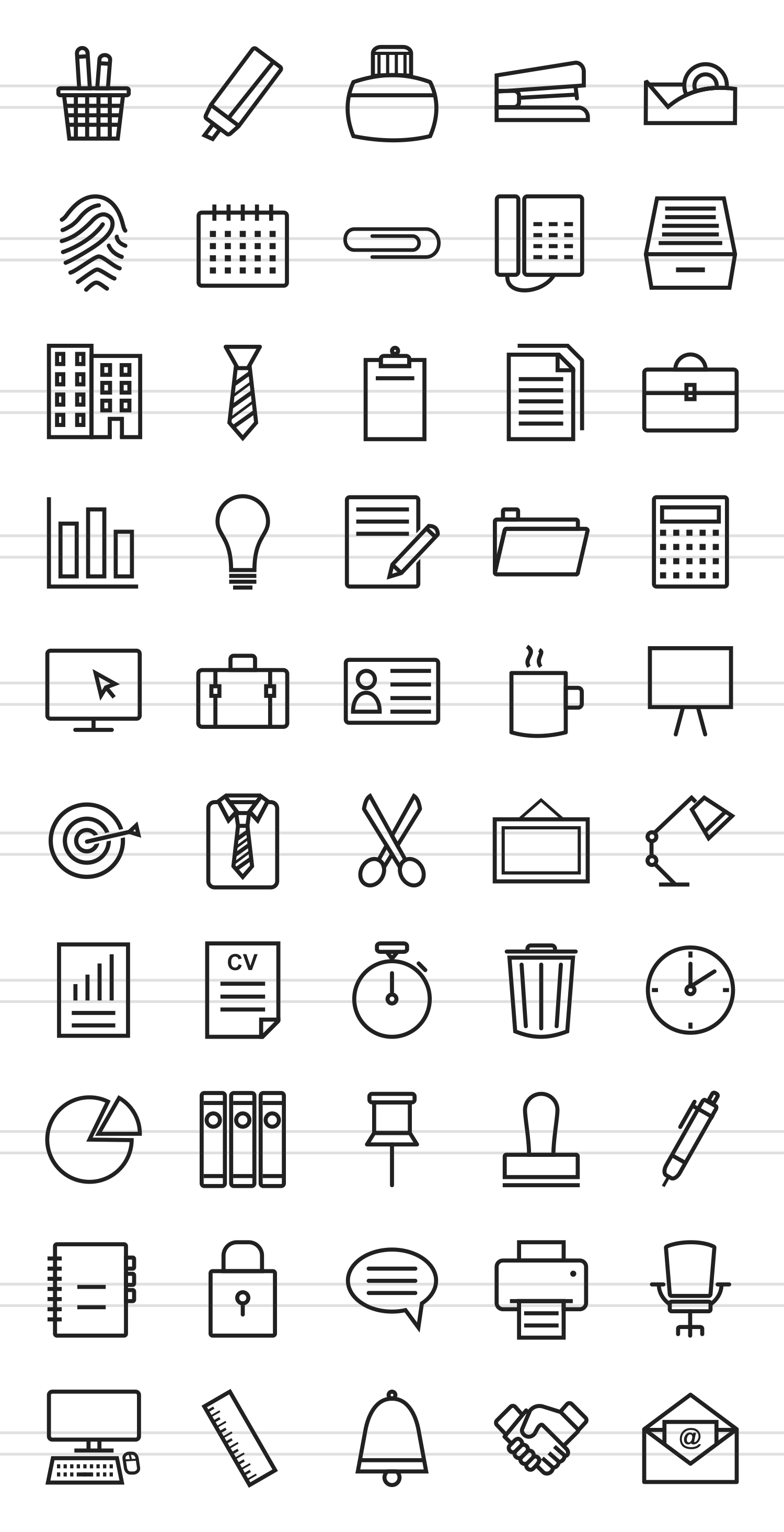 50 Office Line Icons example image 2