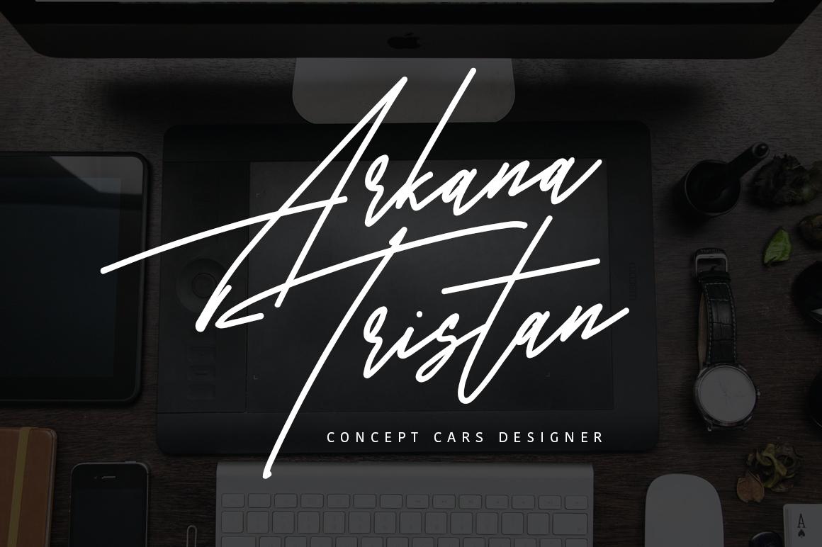 Harris Signature Typeface example image 5
