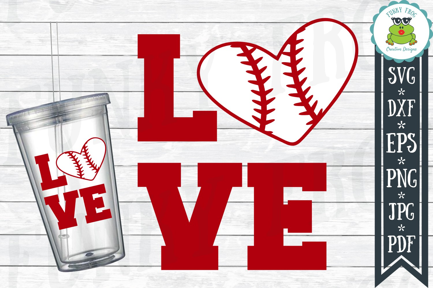 Baseball Love SVG Cut File for Crafters example image 1