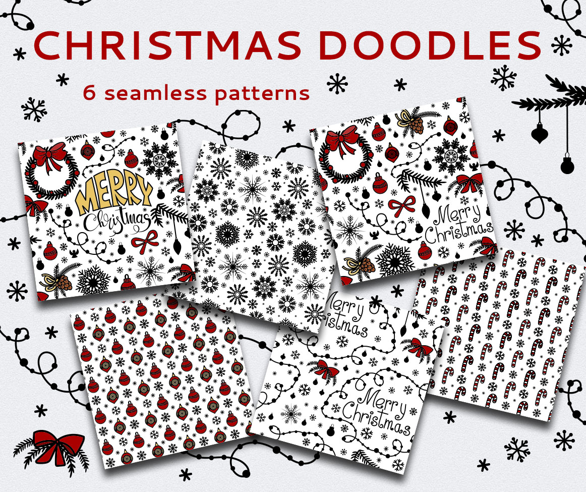 Christmas Seamless Patterns example image 2
