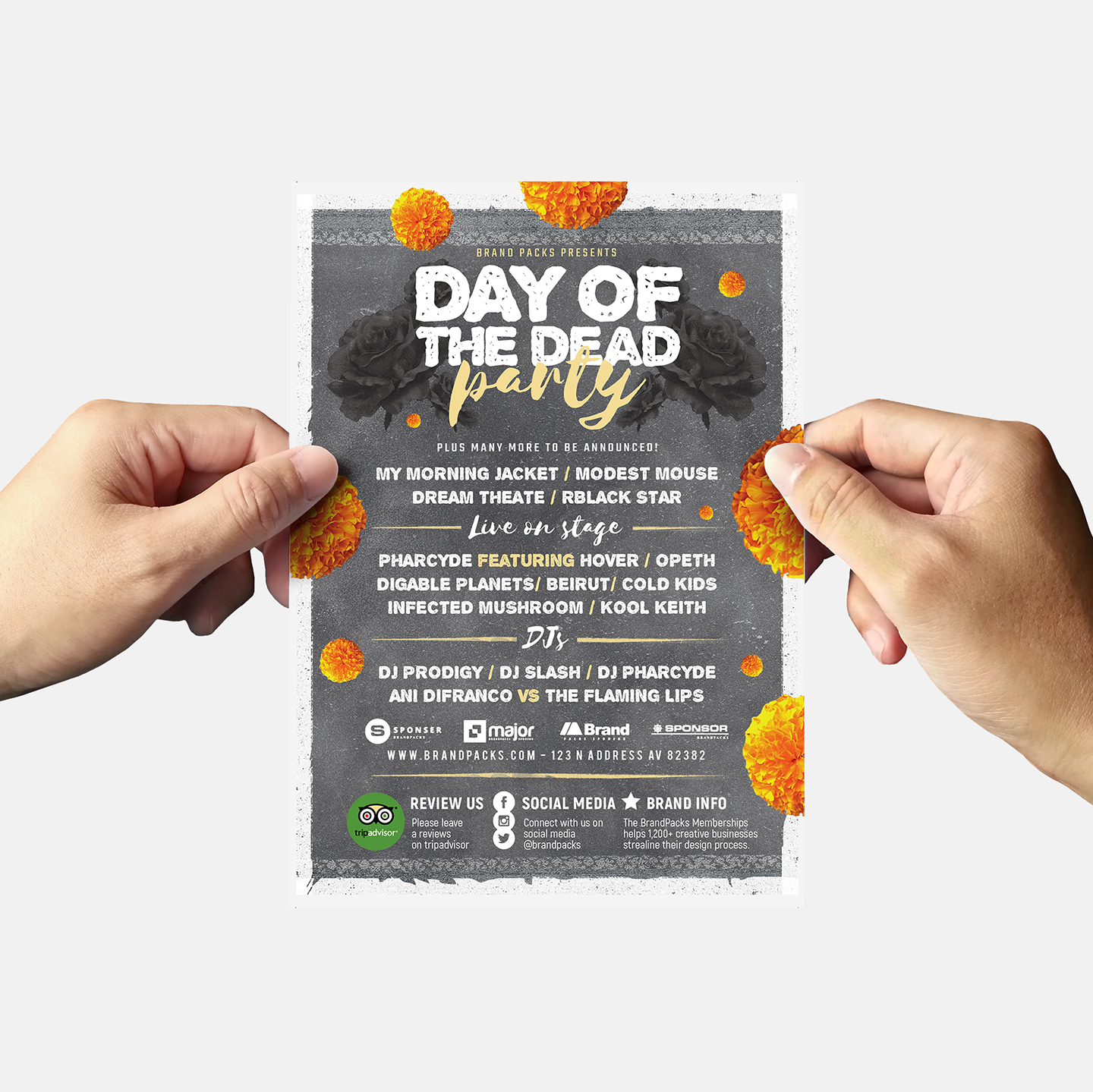 Day of The Dead Party Flyer Template example image 6
