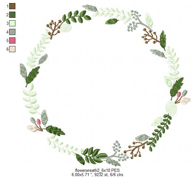 floral wreath leaves wreath font frame design bundles
