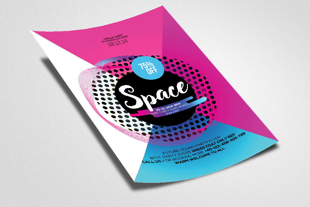 Space Flyer/ Poster Template example image 2
