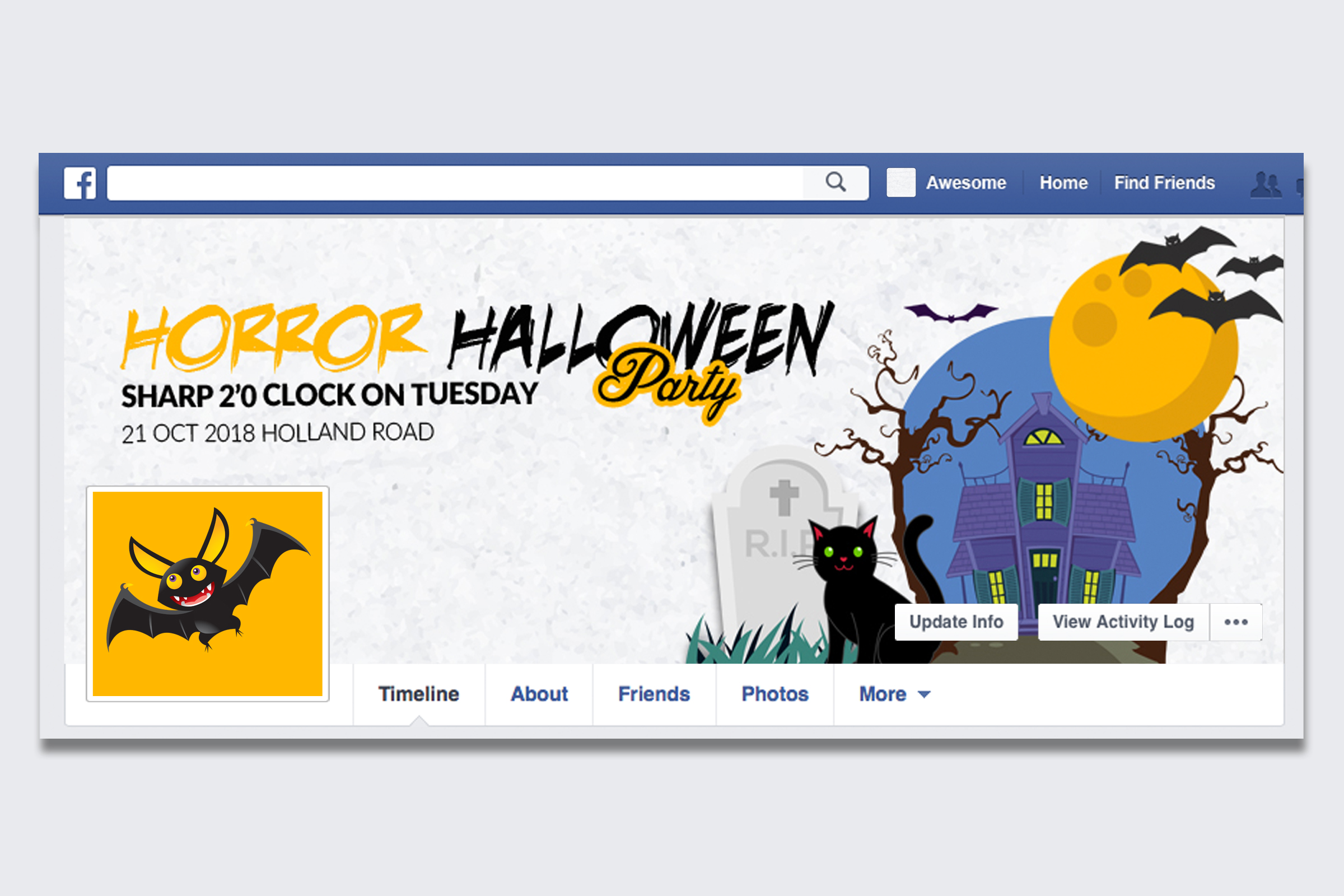 10 Halloween Facebook Timeline Cover Bundle example image 4