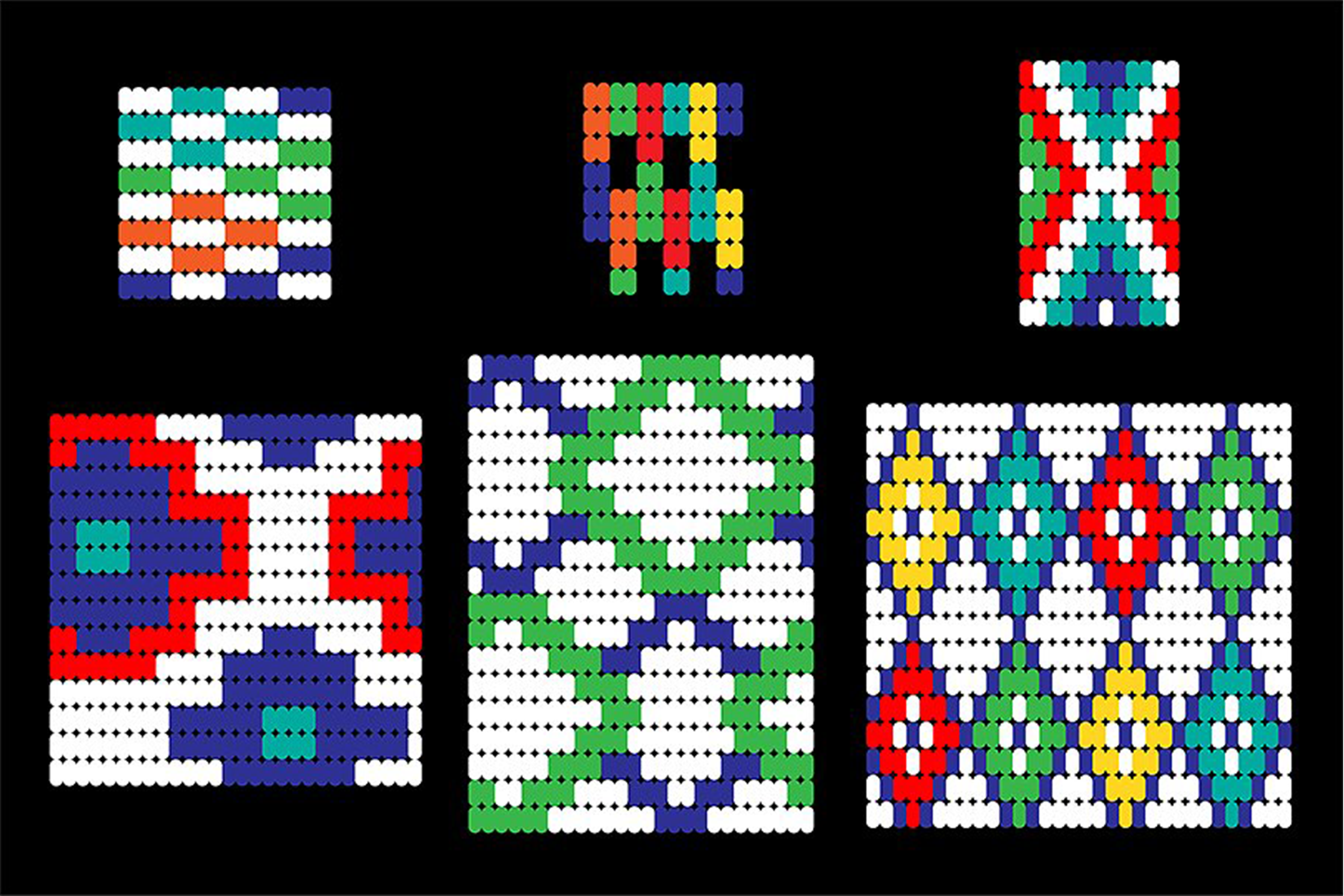 Seamless Tribal Bead Patterns example image 3