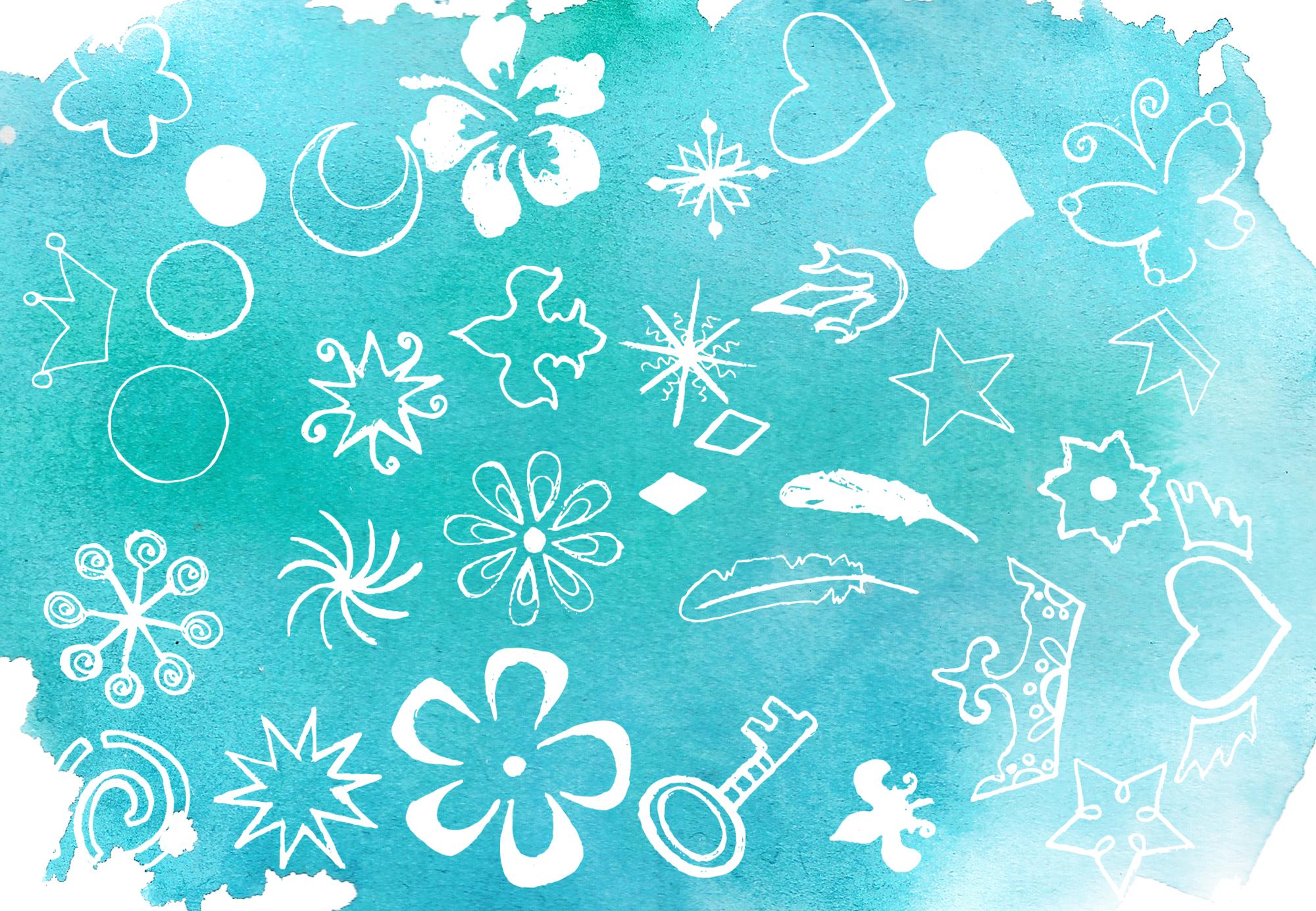 Magic Winter Watercolor Pack example image 9