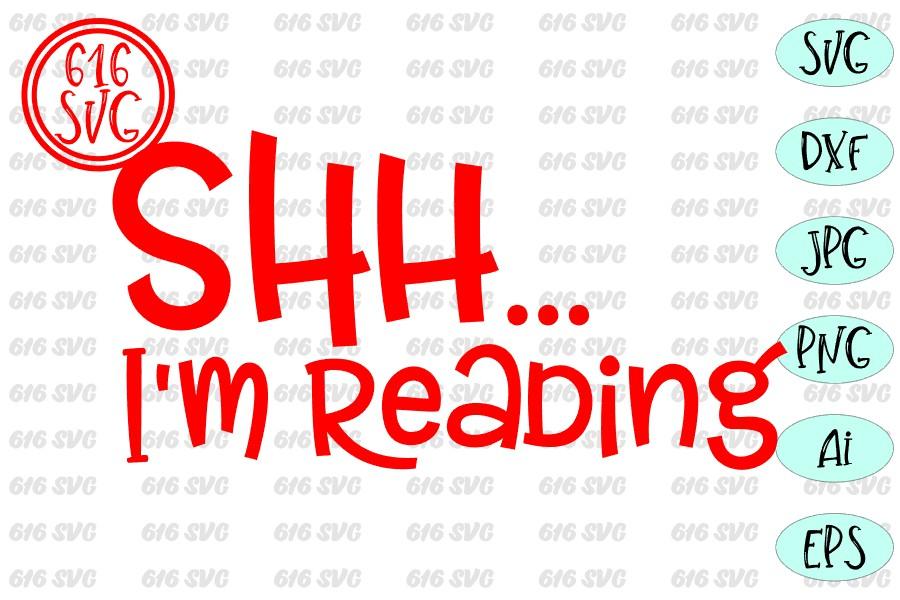 Shh I'm reading SVG example image 3