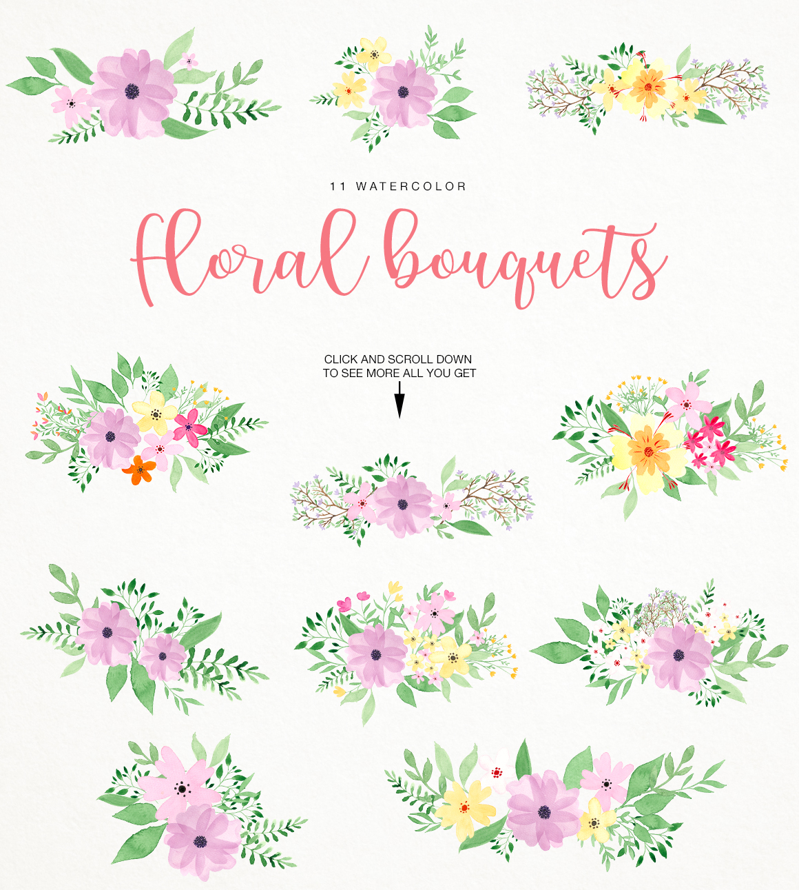 Watercolor fresh spring floral vol.3 example image 3