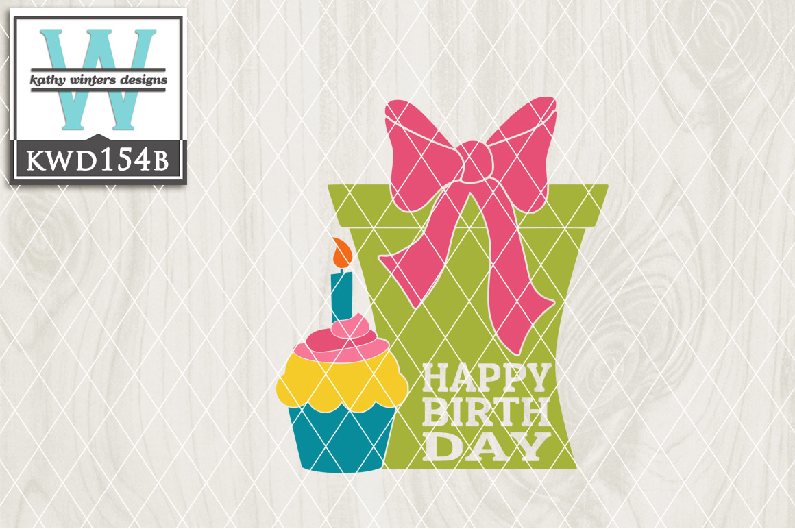 Birthday Cutting File KWD154B example image 1