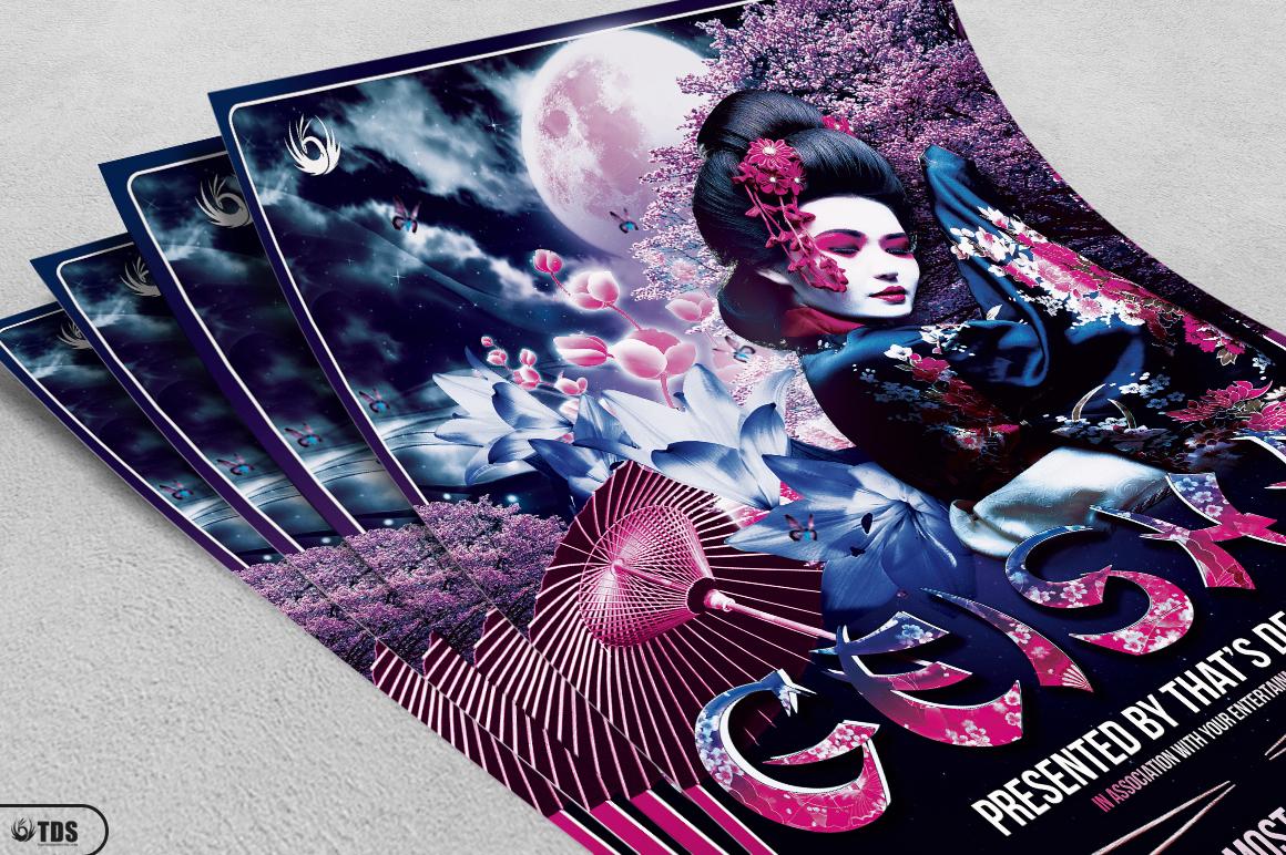 Geisha Night Flyer Template V2 example image 3