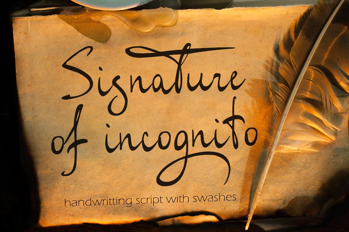 Signature of incognito example image 1