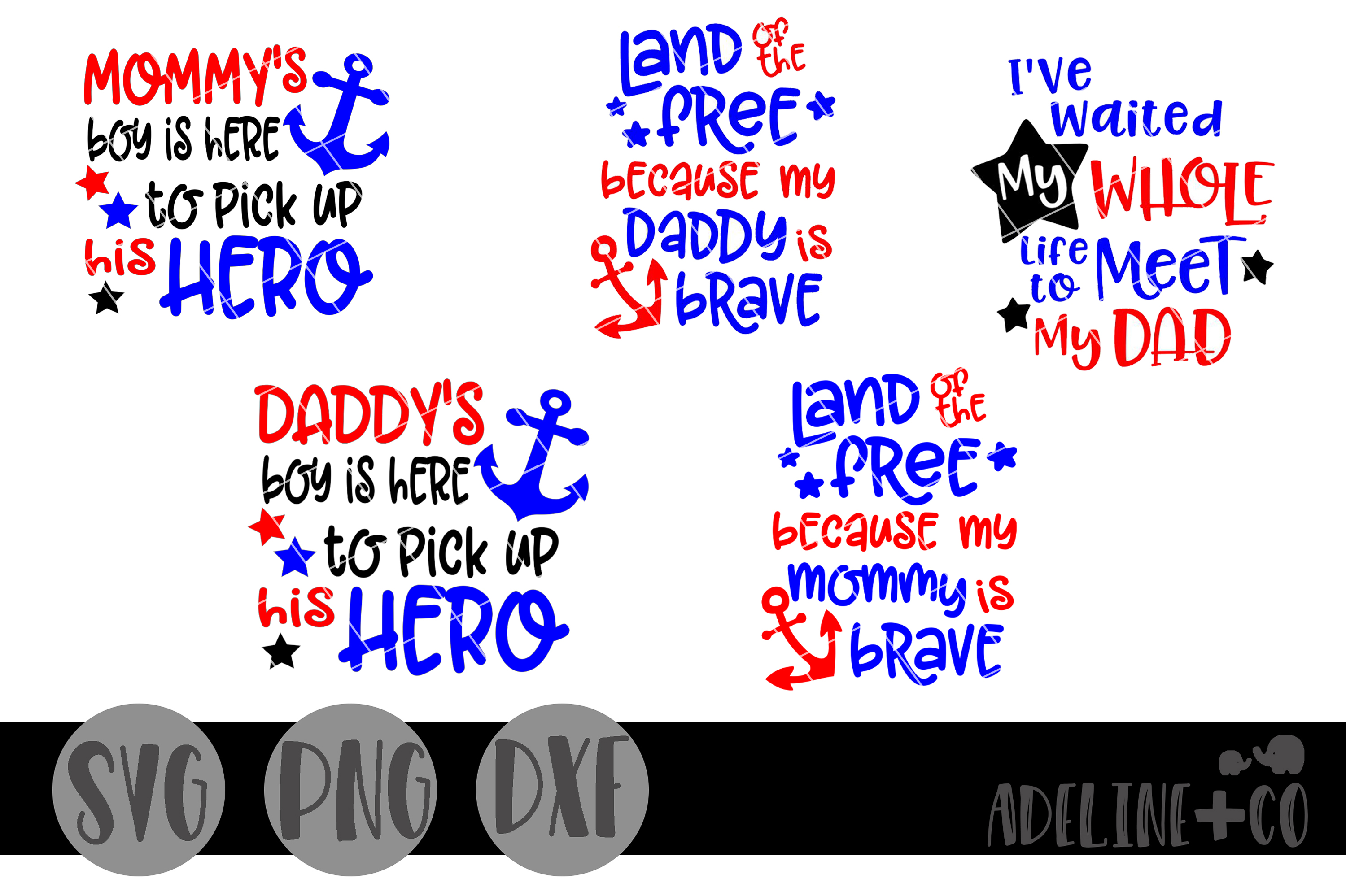 Military homecoming Bundle, SVG PNG DXF example image 1