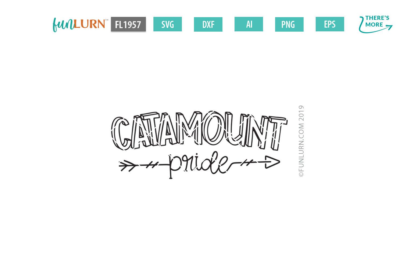 Catamount Pride Team SVG Cut File example image 2