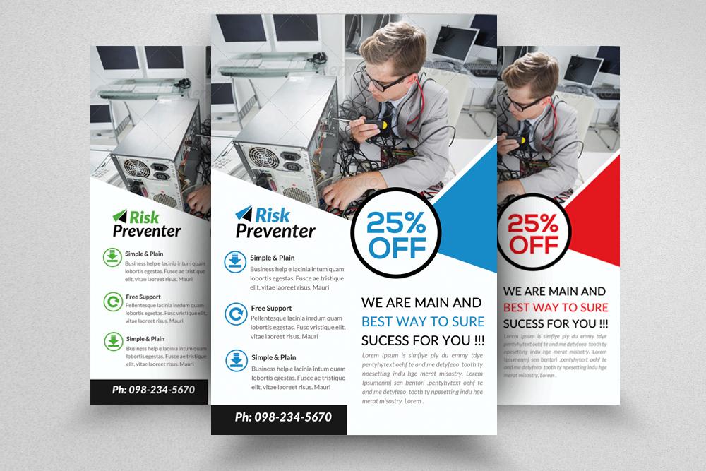 Computer Repair Service Flyer  example image 1