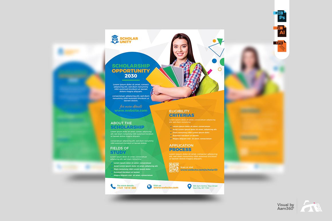 Scholarship Program Flyer Template example image 2