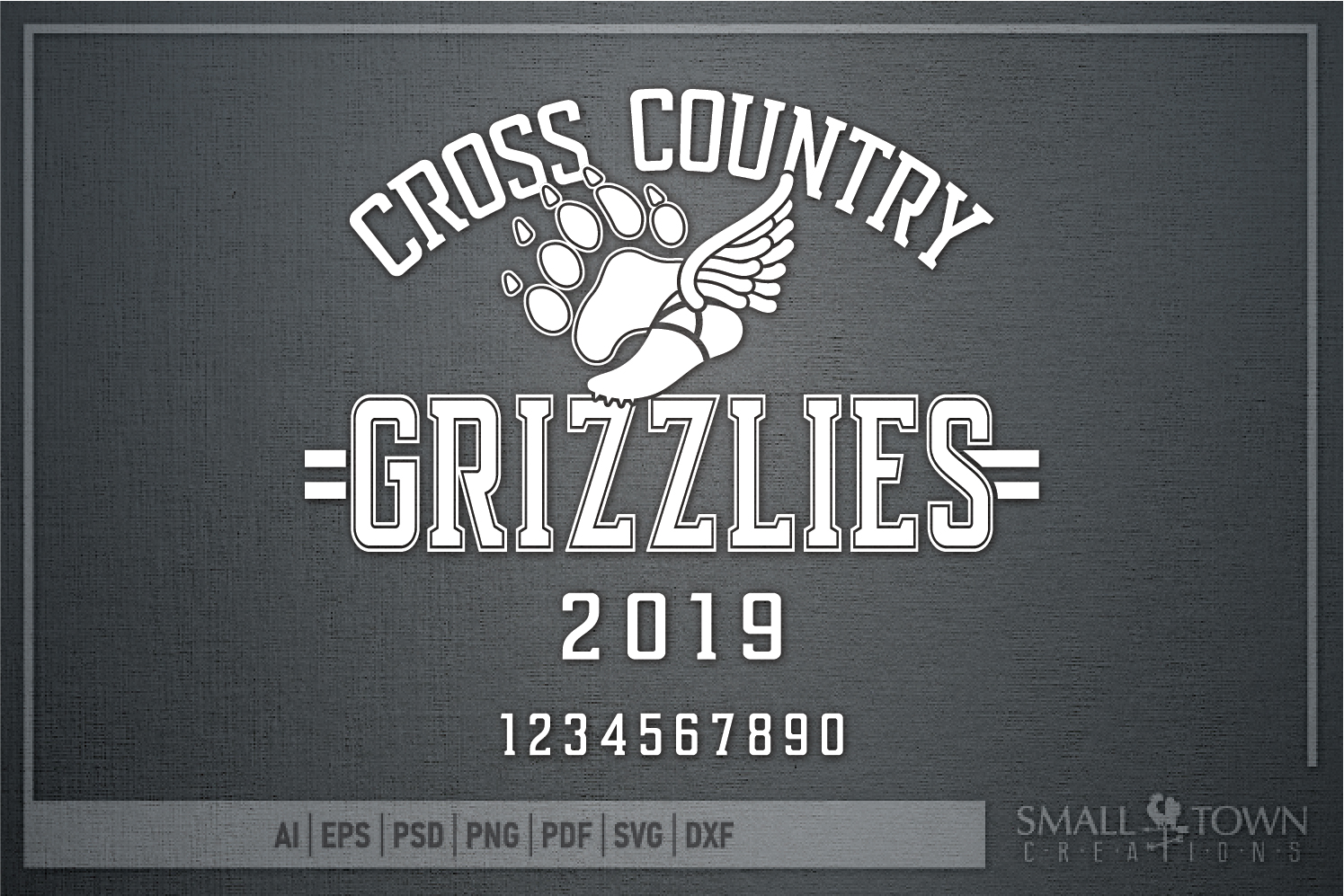 Grizzlies Cross Country, Sports, Logo, PRINT, CUT & DESIGN example image 5