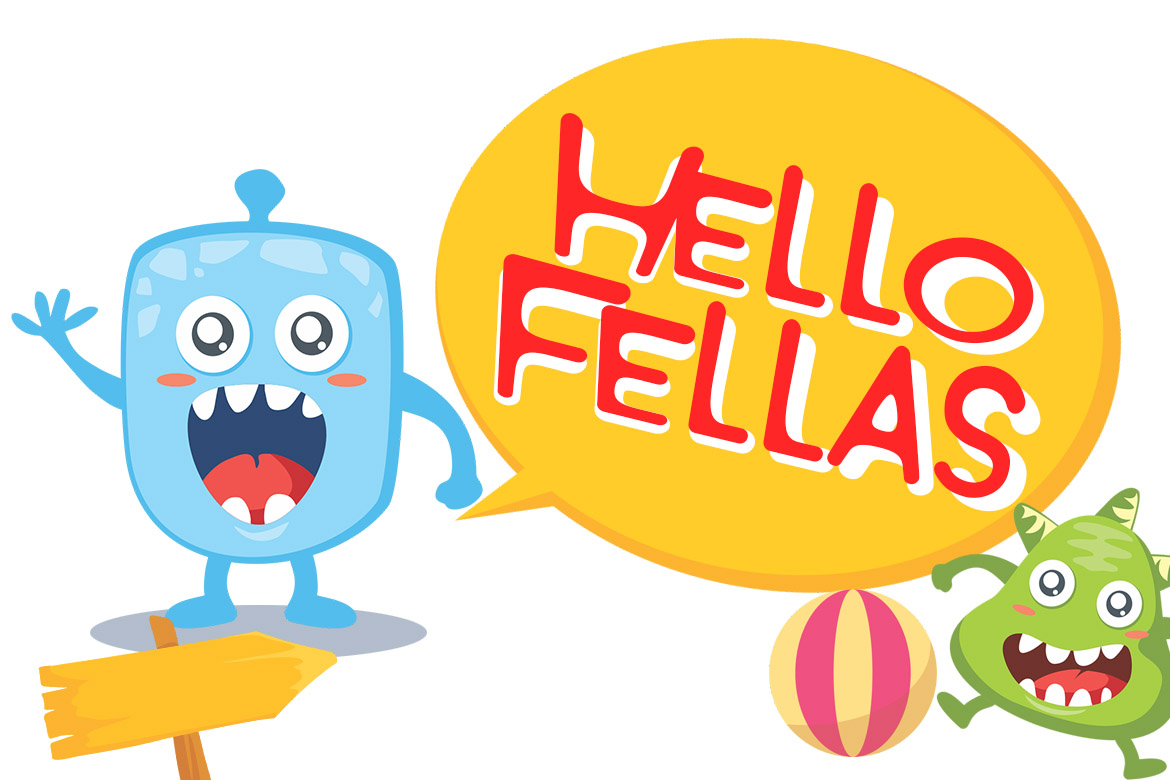 Monster World Font Family & Fun Vector Pack example image 2