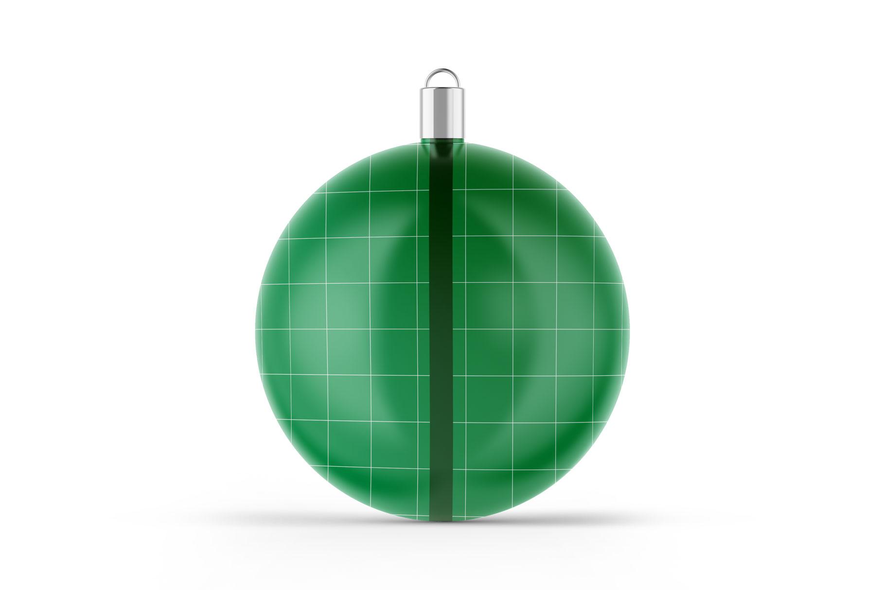 Matte Christmas Ball Mockup example image 2